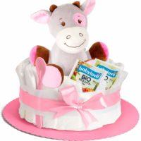geschenke zur geburt windeltorte babygeschenk torte aus windeln