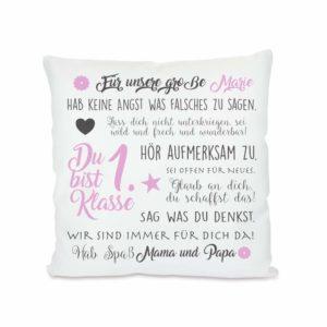 25 Geschenke zur Einschulung Geschenkideen zur Einschulung Geschenk zur Einschulung personalisiertes kissen zur einschulung